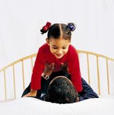 Father And Daughter Playing — Stock Photo
