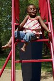A Girl On A Slide — Stock Photo