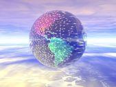 3 d 地球儀 — ストック写真