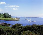 Boats In Water, Lahave, Nova Scotia — Stock Photo