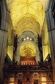 Interior Of Seville Cathedral, Andalusia, Spain — Stok fotoğraf