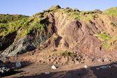 Cliff Erosion, Ballydowane Cove, Copper Coast, Co Waterford, Ireland — Stock Photo