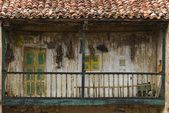 Derelict Wooden Balcony, Carmona, Cantabria, Northern Spain — Stock Photo