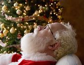 Santa Taking A Nap — Stock Photo