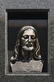 Carved Image Of Christ's Head, Northern Spain — Stock Photo