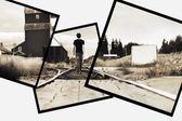 Man On Railway Tracks — Stock Photo