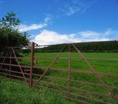 Farm Gates, Comeragh Mountains, Co Waterford, Ireland — Stockfoto
