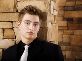 Head And Shoulders Portrait Of A Young Man — Stock Photo