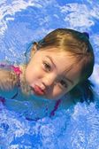 Girl In Swimming Pool — Stok fotoğraf