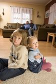 Children At Home With Parents — Stock Photo