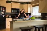 A Woman In The Kitchen — Stock Photo