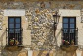 Balconies In Escalante, Cantabria, Northern Spain — Stock Photo