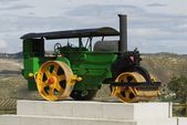 Old Fashioned Steamroller In Andalucia, Spain — 图库照片