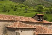 Pantiled Roofs And Church Belfry In Carmona, Cantabria, Northern Spain — Stock Photo