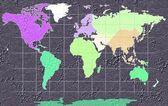 World Map Illustration — Stock Photo