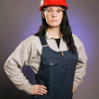 Tradeswoman In Coveralls — Stock Photo #31761615