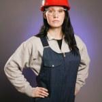 Tradeswoman In Coveralls — Stock Photo