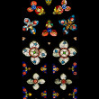 Gothic Stained Glass Window In Spanish Church Of San Severino, Balmaseda, The Basque Country, Spain — Stock Photo #31761885