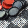 Stock Photo: Red And Black Checkers