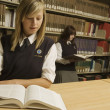 Stock Photo: Students In The Library