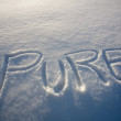 Pure Written In Snow — Stock Photo #31762731