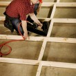 Stock Photo: High Angle View Of Tradesman