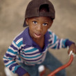 Boy Riding A Tricycle — Stock Photo