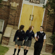 Students Outside School — Stock Photo