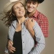 Couple Wearing Western Clothing — Stok Fotoğraf #31763297