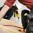 Carpenters Working With Electric Tools — Stock Photo #31763573