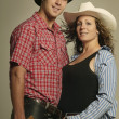Couple Wearing Western Clothing — Stok Fotoğraf #31764541