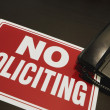 Stock Photo: No Soliciting Sign With Telephone