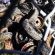 Stock Photo: Tires In Scrap Yard