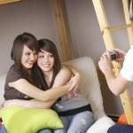 Girls Having Their Picture Taken — Stock Photo #31768109