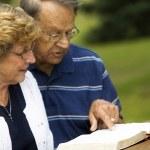 Senior Couple Reading The Bible — Stock Photo #31768391