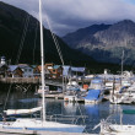 Boat Dock At Seward, Alaska — Stock Photo