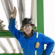 Man Working At An Oil Refinery — Stock Photo #31768905