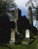 Round Tower And Cemetery, Swords, Dublin, Ireland — Stock Photo