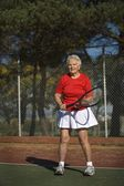 Woman Ready To Play Tennis — Stock Photo