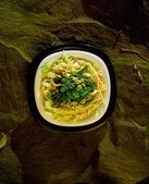 Oriental Salad With Mixed Leaves And Asparagus — ストック写真