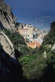 Sierra De Montserrat Monastery, Catalonia, Spain, Europe — Stock Photo