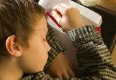 Student Asleep On His Notebook — Stock Photo