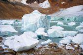 Slough glaciar — Fotografia Stock