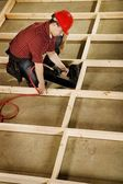 High Angle View Of A Tradesman — Stock Photo