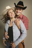 Couple Wearing Western Clothing — Stock Photo