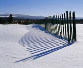 Snow Fence — Stock Photo