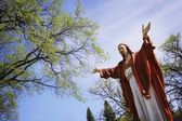 Statue Of Jesus With Outstretched Arms — Stockfoto