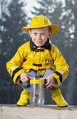 Boy In The Rain — Stock Photo