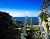 Co Mayo,Ireland. Cross Abbey On The 14Th Mullet Peninsula — Stock Photo