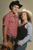 对夫妇身穿西式服装 — 图库照片